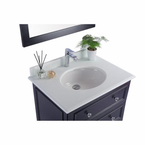 Luna - 30 - Espresso Cabinet + Pure White Phoenix Stone Countertop Perspective: top