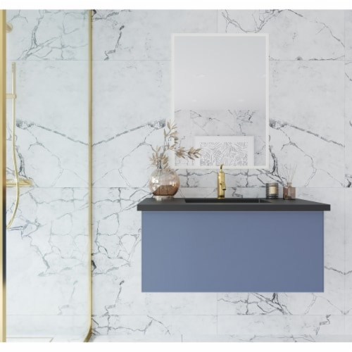 Vitri 36 - Nautical Blue Cabinet Perspective: top