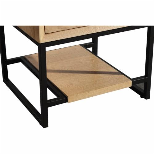 Alto 24 - California White Oak Cabinet + Black Wood Marble Countertop Perspective: top