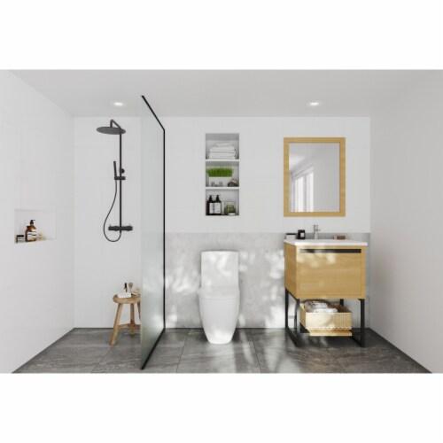 Alto 24 - California White Oak Cabinet + Matte White VIVA Stone Solid Surface Countertop Perspective: top