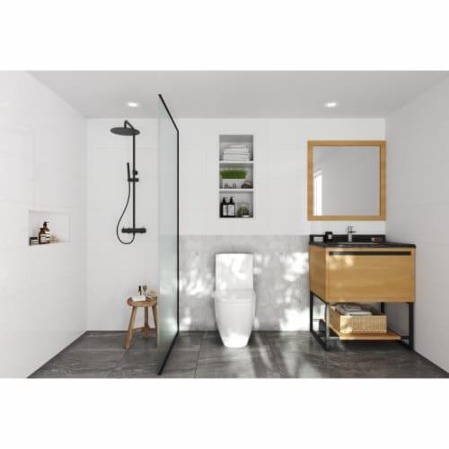 Alto 30 - California White Oak Cabinet + Black Wood Marble Countertop Perspective: top
