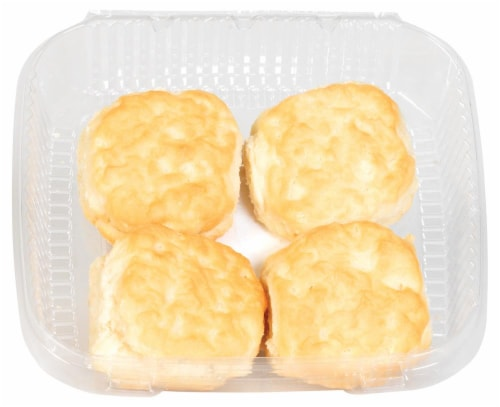 Bakery Fresh Buttermilk Biscuits 4 Count Perspective: top