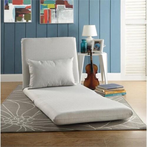 Relaxie Floor Chairs Beige Linen Sleeper Dorm Bed Couch Lounger Sofa Perspective: top