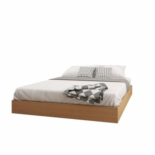 Norway 3 Piece Queen Size Bedroom Set Natural Maple & White Perspective: top
