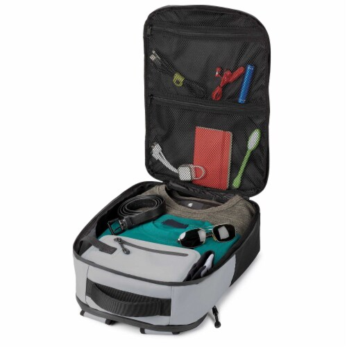 Marin Collection Backpack Grey Perspective: top