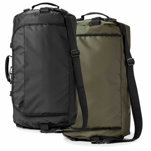 Marin Collection Water Resistant Duffle Black Perspective: top