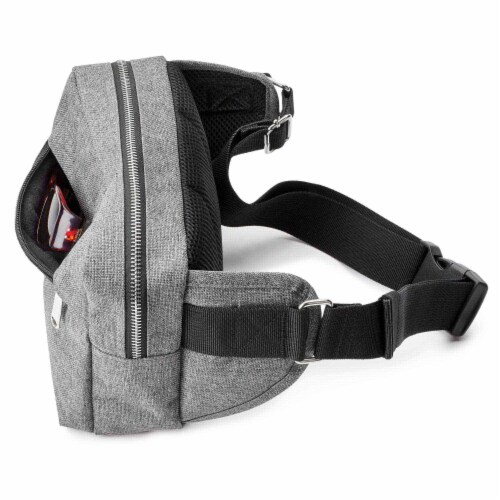 Marin Collection Crossbody Grey Perspective: top