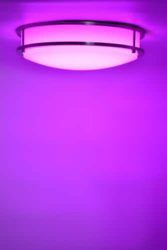 """LED RGB Round Ceiling Light 14"""" Bluetooth & WI-FI Control 20W 120-277V Perspective: top"""