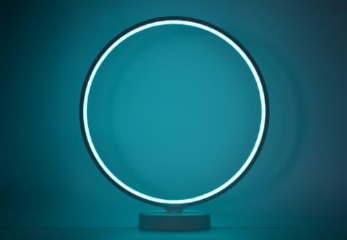 "LED RGB Ornamental Lighting 13"" Diameter 8W 100-240VAC Perspective: top"