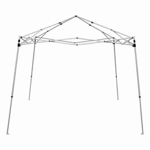 Caravan Canopy V Series 2 Slanted Leg Canopy - Blue/White Perspective: top
