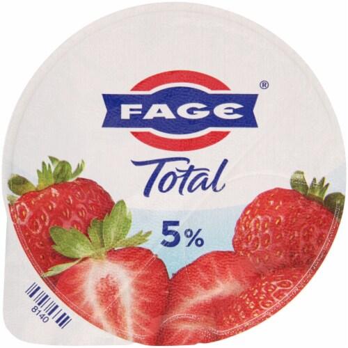 Fage Total 5% Milkfat Strawberry Greek Yogurt Perspective: top
