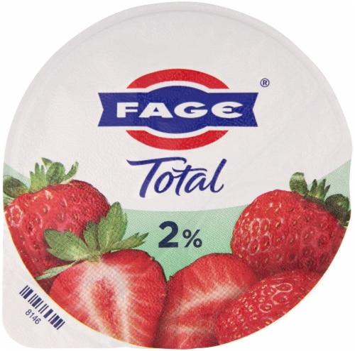 Fage Total 2% Milkfat Strawberry Greek Yogurt Perspective: top