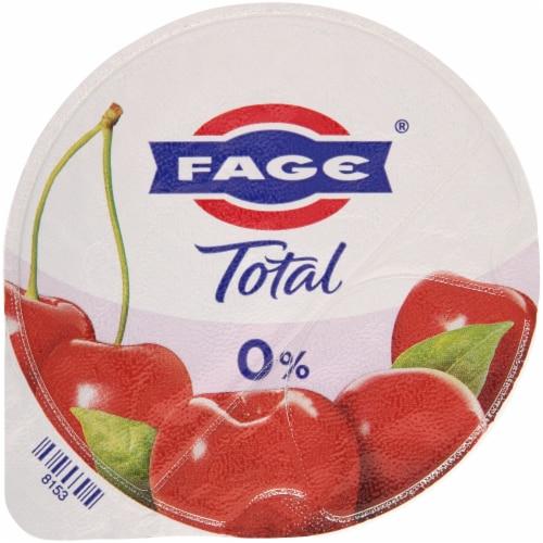 Fage Total 0% Cherry Greek Yogurt Perspective: top