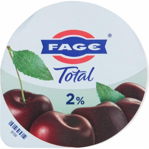 Fage Total 2% Black Cherry Greek Yogurt Perspective: top