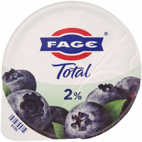 Fage Total 2% Milkfat Blueberry Greek Yogurt Perspective: top