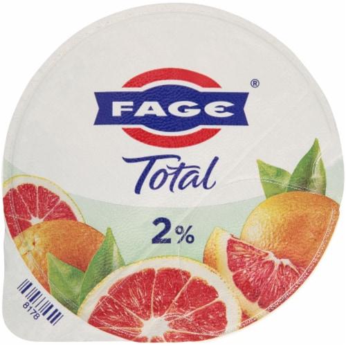 Fage Total 2% Milkfat Blood Orange Yogurt Perspective: top