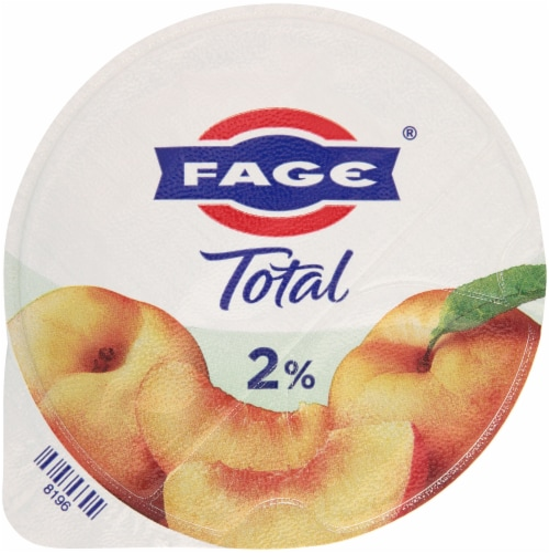 Fage Total 2% Peach Greek Yogurt Perspective: top