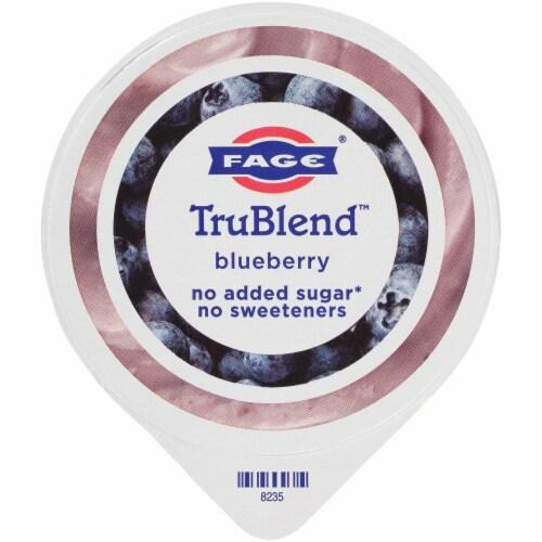 Fage TruBlend Lowfat Blueberry Greek Yogurt Perspective: top