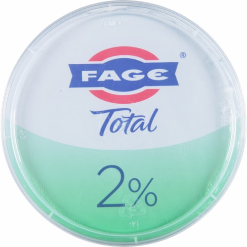 Fage Total 2% Greek Strained Yogurt Perspective: top