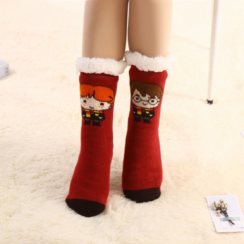 MTI Gryffindor Harry Potter Sherpa Sock Assortment Perspective: top