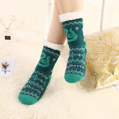 MTI Slytherin Harry Potter Sherpa Sock Assortment Perspective: top