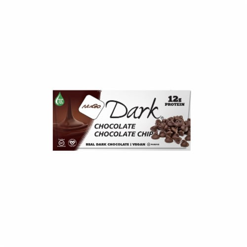 NuGo Dark Chocolate Chocolate Chip Bars Perspective: top