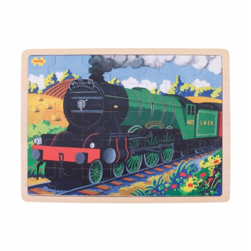 Bigjigs Toys Wooden Flying Scotsman Train Tray Puzzle Perspective: top
