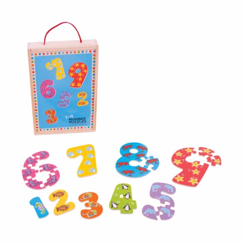 Bigjigs Toys 1-9 Number Puzzles Perspective: top