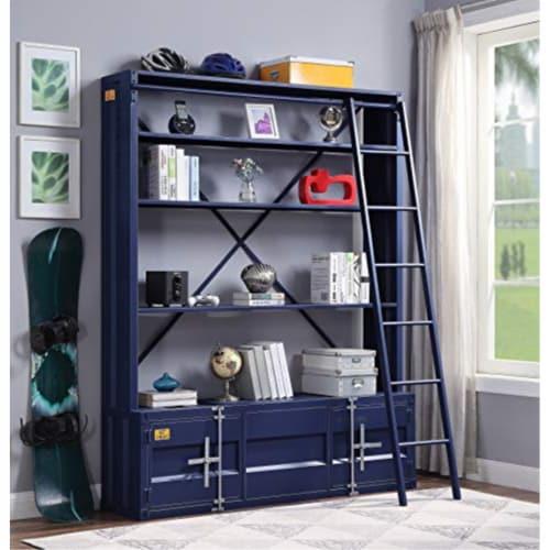 Ergode Bookshelf & Ladder Blue Perspective: top