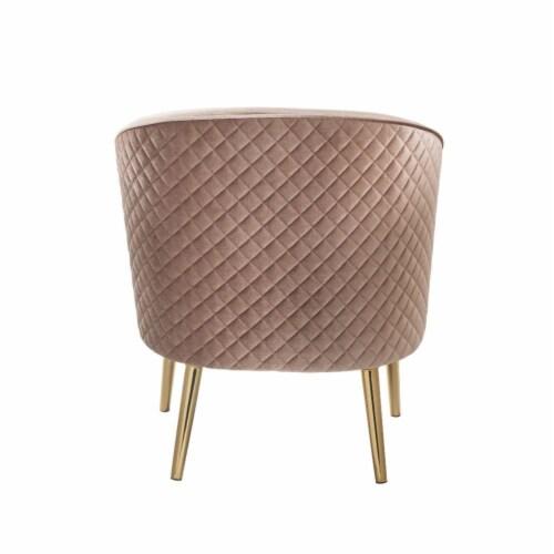 Ergode Accent Chair Velvet & Gold Perspective: top