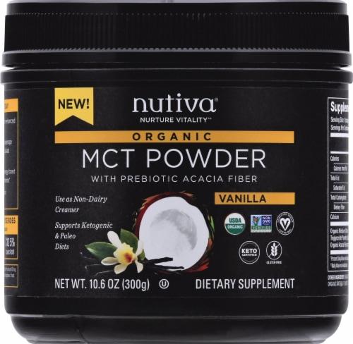 Nutiva MCT Powder with Prebiotic Acacia Fiber - Vanilla Perspective: top