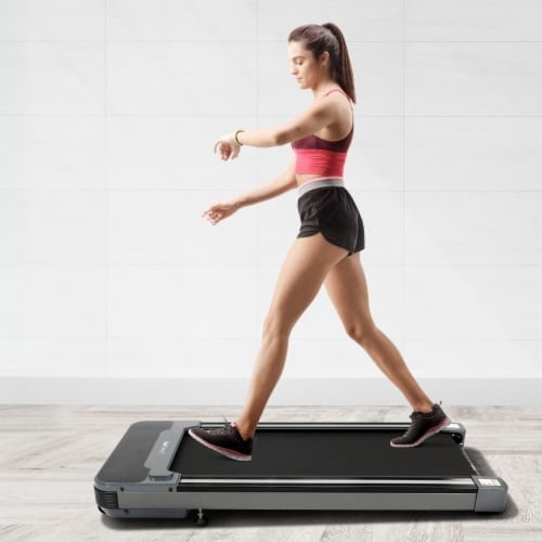 Happy Living Under Desk Electric Treadmill - Black Perspective: top