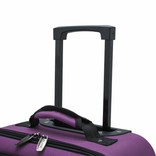 Traveler's Choice Elite Luggage Softside Kid's Rolling Carry-On - Purple Perspective: top