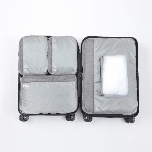Traveler's Choice Packing Cube Luggage Set - Black Perspective: top