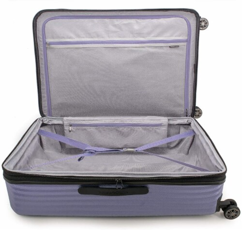 Traveler's Choice Dana Point Expandable Hard-Shell Luggage Set with USB Port - Light Lavender Perspective: top