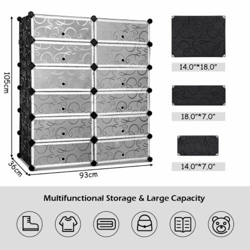 Costway 12 Cubic Portable Shoe Rack Shelf Cabinet Storage Closet Organizer Home Furni Perspective: top