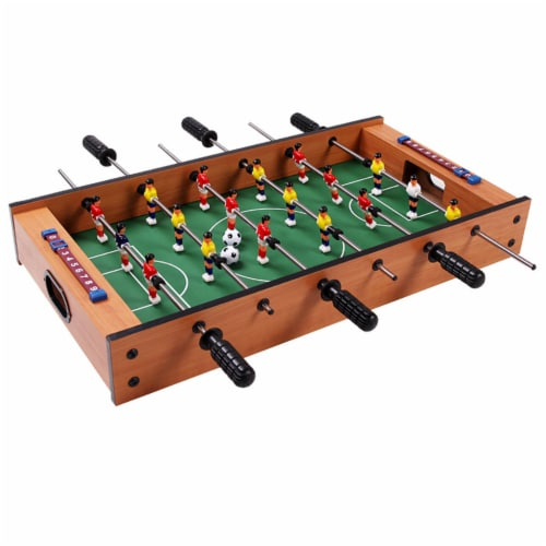 Costway 2 In 1 Table Game Air Hockey Foosball Table Christmas Gift For Kids In/Outdoor Perspective: top