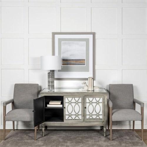 Mercana Palisades Fabric Flint Gray Chair Perspective: top