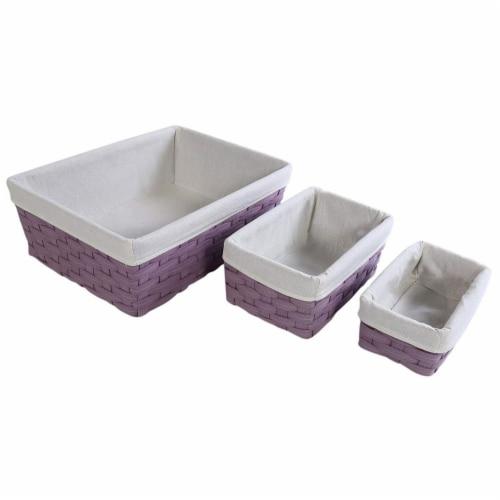 Juvale Nesting Baskets, Woven Storage Baskets (Lavender, 5 Piece Set) Perspective: top