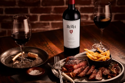 Roth Estate Alexander Valley Cabernet Sauvignon Red Wine Perspective: top