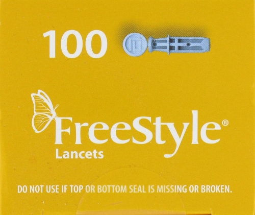 FreeStyle® Sterile 28 Gauge Lancets Perspective: top