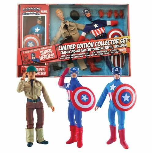 Marvel Captain America 8 Inch Retro Action Figure Set Perspective: top
