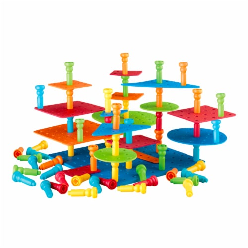 Lauri® Tall-Stackers Pegs Building Set Perspective: top