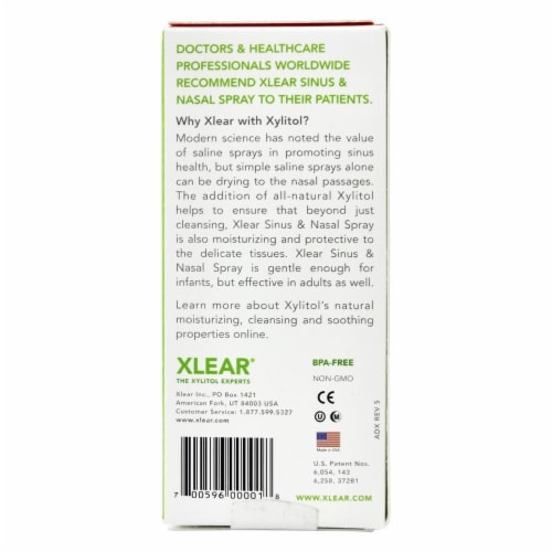 Xlear Fast Relief Nasal Spray Perspective: top