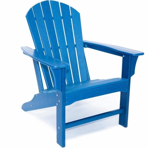 Hampton Navy Poly Outdoor Patio Adirondack Chair Perspective: top