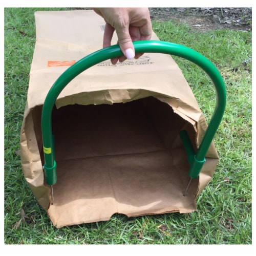 Leaf Gulp II  Leaf Bag Holder for Paper Bags Perspective: top