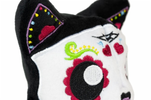 Tentacle Kitty 4-inch Little Ones Plush - Day Of The Dead Sugar Skull Design Perspective: top