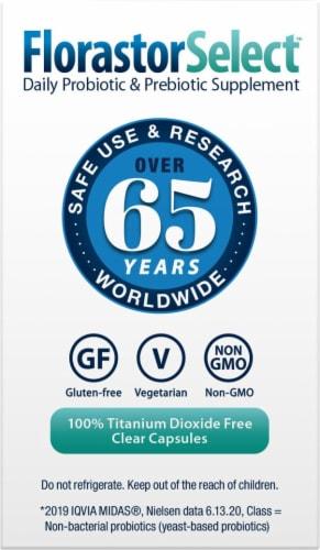 Florastor Pre Daily Probiotic & Fiber Supplement Capsules 250mg Perspective: top