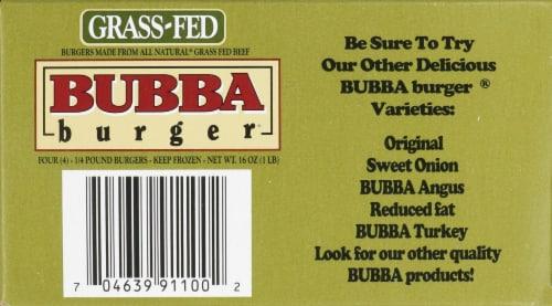 Bubba Burger Gluten Free Grass Fed Beef Burger Perspective: top