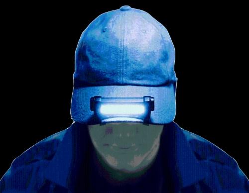 Police Security Do It Bundle Cap Light & Flashlight Perspective: top
